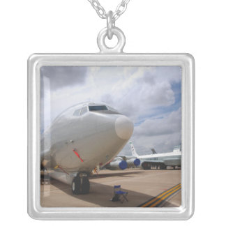 A RC-135V/W Rivet Joint aircraft Silver Plated Necklace