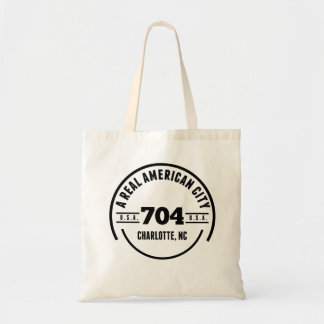 A Real American City Charlotte NC Budget Tote Bag