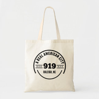 A Real American City Raleigh NC Budget Tote Bag