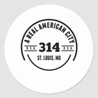A Real American City St. Louis MO Round Sticker