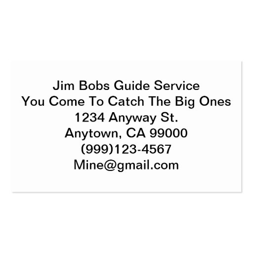 A Real Businnes Card For A Real Guide Business Cards