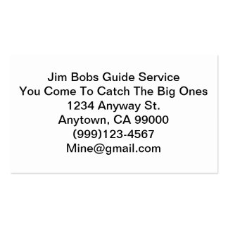 A Real Businnes Card For A Real Guide Pack Of Standard Business Cards