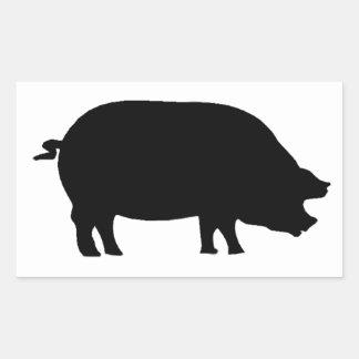 A real ham rectangular sticker