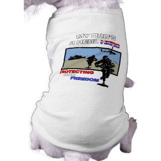 A Real Hero - Military Sleeveless Dog Shirt
