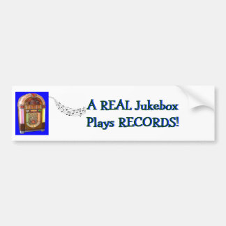 A Real Jukebox Plays RECORDS Bumper Sticker