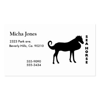 A Real Life Sea Horse Business Card