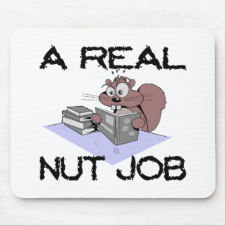 A Real Nut Job Squirrel Mouse Mat