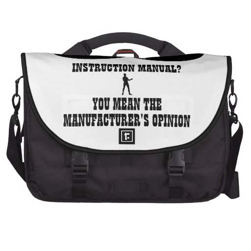 A Real Overly Manly Man - Instruction Manual? Laptop Bags