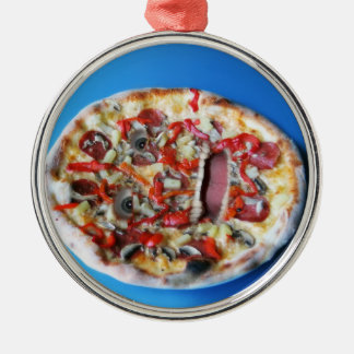 A Real Pizza Face Christmas Ornament