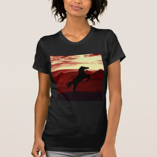 A rearing horse silhouette T-Shirt