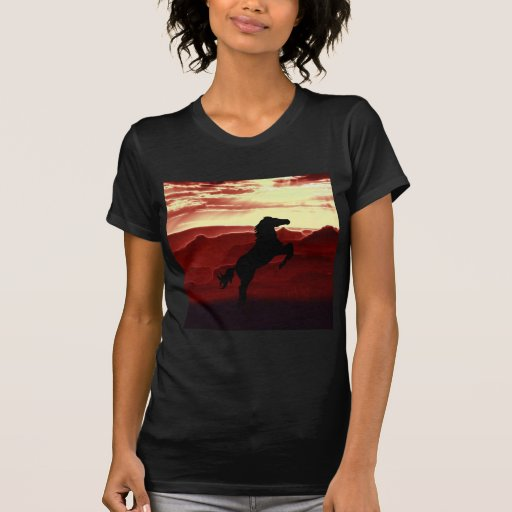 A rearing horse silhouette shirt