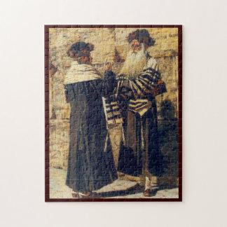 A Rebbe at the Kotel by Vereshchagin - Circa 1880s Jigsaw Puzzle