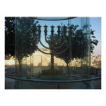 A reconstruction of the menorah of the temple poster