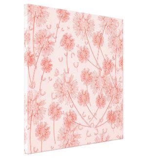 A Red Dandelion Canvas Prints