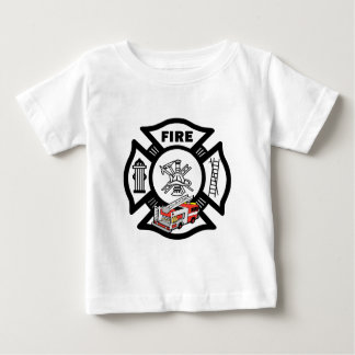 A Red Fire Truck Rescue Baby T-Shirt