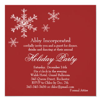 A Red Glamorous Holiday Party Invitation (corp)