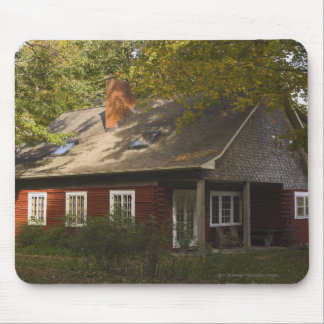 A Red Log Home Mouse Mat