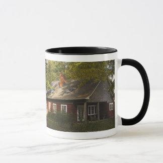 A Red Log Home Mug