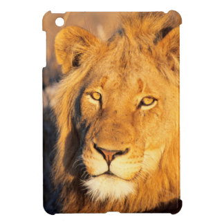 A Red Maned Lion looking at the camera. iPad Mini Covers