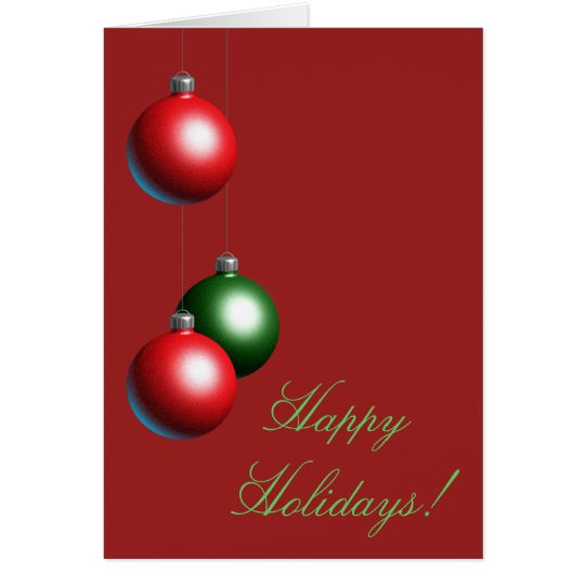 A Red Ornament Happy Holidays Card (corp.)