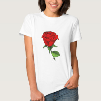 A Red Rose Clipart T-shirts