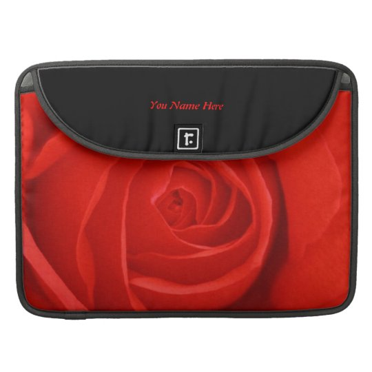 A red rose whispers passion. sleeve for MacBooks