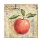 A Red Shiny Apple Canvas Print