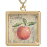 A Red Shiny Apple Gold Plated Necklace