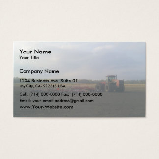 A Red Tractor Resting On The Open Fields... Business Card