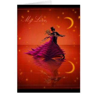A Red Waltz Greeting Card