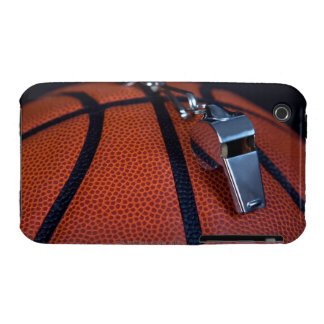 A referee's whistle rests on top of a iPhone 3 Case-Mate case