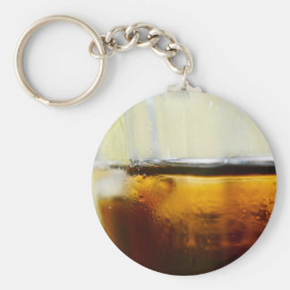 A Refreshing Iced Drink Basic Round Button Key Ring