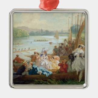 A Regatta at Asnieres during the Second Empire Christmas Ornament