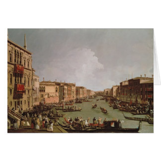 A Regatta on the Grand Canal, c.1735 Card