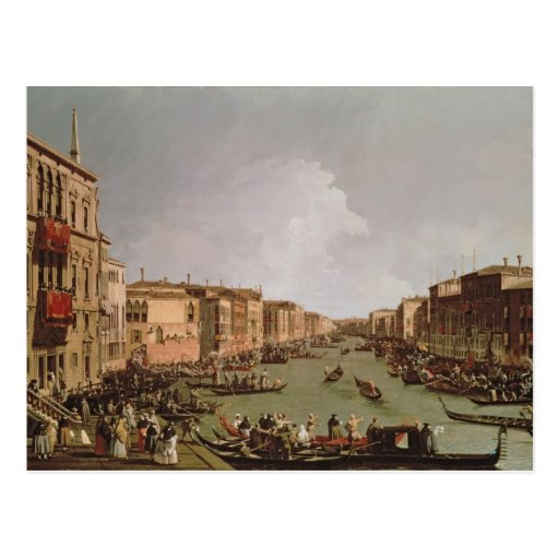 A Regatta on the Grand Canal, c.1735 Post Cards
