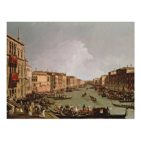 A Regatta on the Grand Canal, c.1735 Postcard