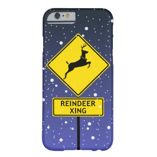 A Reindeer Crossing Sign at the North Pole Barely There iPhone 6 Case
