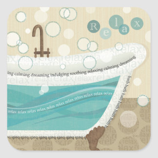A Relaxing Bath Square Sticker