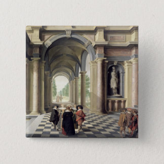 A Renaissance Hall 15 Cm Square Badge