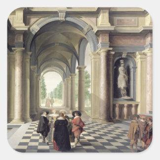 A Renaissance Hall Square Sticker
