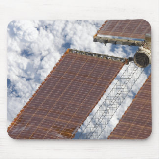 A repaired solar array mouse pad