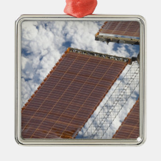 A repaired solar array Silver-Colored square decoration