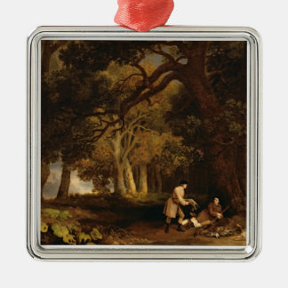 A Repose After Shooting (oil on canvas) Christmas Ornament