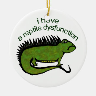 A Reptile Dysfunction Christmas Ornament
