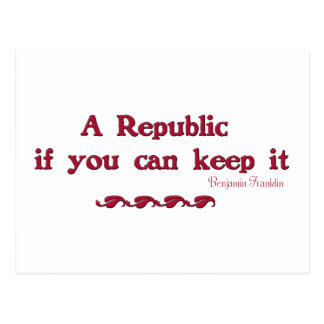 A Republic if you can keep it Postcard