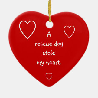 A rescue dog stole my heart ornament