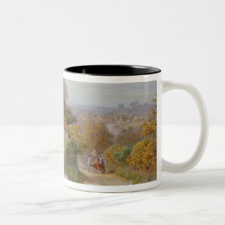 A Rest by the Way Two-Tone Coffee Mug