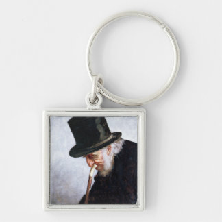 A Retired Sea Captain from Massachusetts, 1879 Silver-Colored Square Key Ring