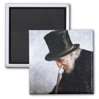 A Retired Sea Captain from Massachusetts, 1879 Square Magnet