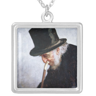 A Retired Sea Captain from Massachusetts, 1879 Square Pendant Necklace